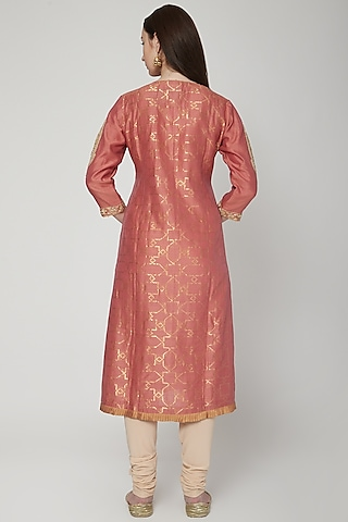 Copper Woven Jaal Tunic by RAR Studio