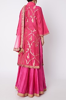 Fuchsia Pink Kurta Set by RAR Studio