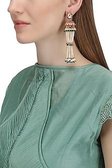 Gold Plated Palki Jhumki Earrings by Raabta