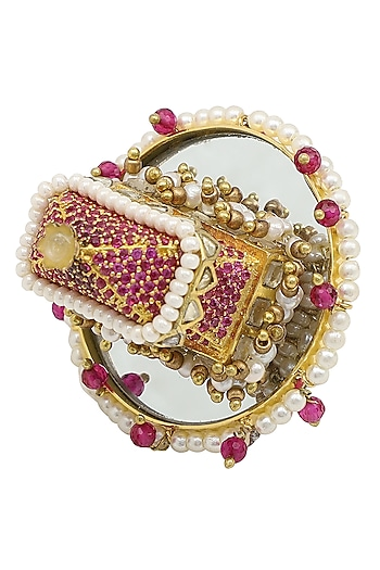 Gold Plated Palki Arsee Ring by Raabta