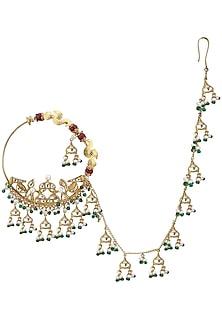 Gold Plated Pahadi Nose Ring by Raabta