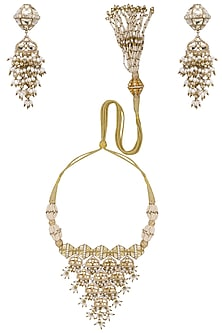 Gold Plated Damru Motif Choker Necklace by Raabta