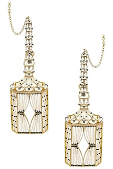 Gold Plated Mogra Earrings by Raabta