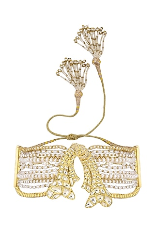 Gold Plated Pearls and Beads Armband by Raabta