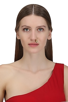 Gold Plated Shennai Septum Nose Ring by Raabta