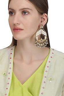 Gold Plated Samaroh Earrings by Raabta