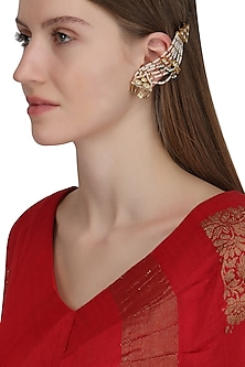 Gold Plated Mogra Earrings by Raabta