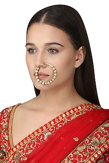 Gold Plated Tabla Nose Ring by Raabta