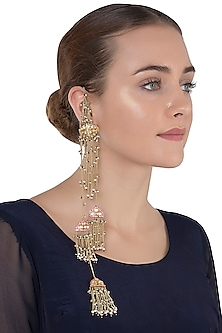 Gold Plated Kashimir Polki Earrings by Raabta