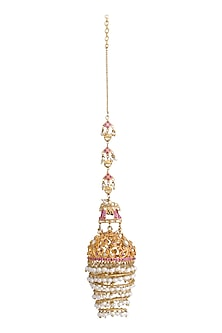 Gold Plated Filigree Jhumkas by Raabta