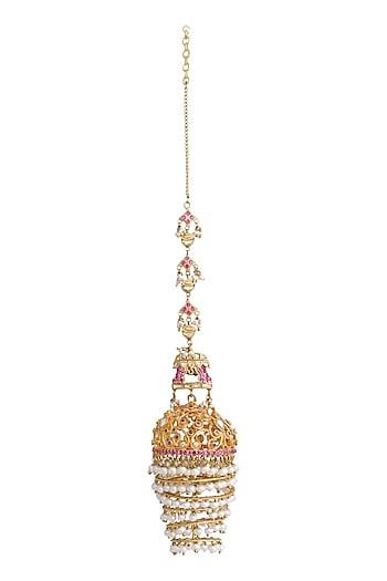 Gold Plated Filigree Jhumkas by Raabta