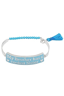 Silver Plated 'My Brother Has A Coolest Sister' Rakhi by Raabta