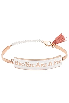 Gold and Black Plated 'Bro You Are A Pro' Rakhi by Raabta