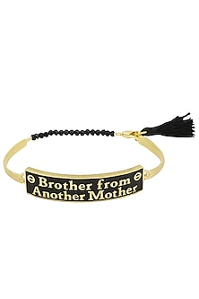 Gold and Black Plated 'Brother From Another Mother' Rakhi by Raabta