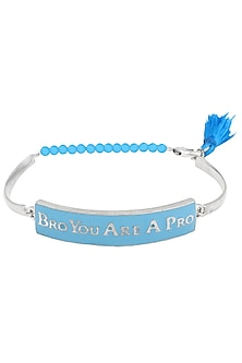 Silver Plated 'Bro You Are A Pro' Rakhi by Raabta