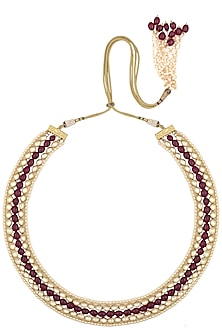 Polki Ruby Necklace by Raabta