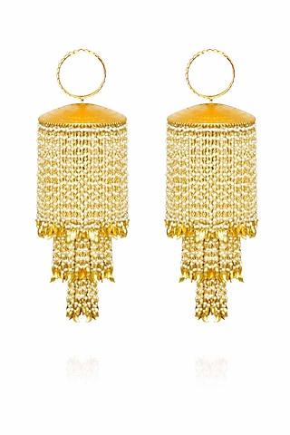 Gold plated leaf bridal kaleeras by Raabta