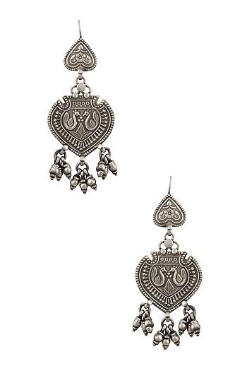 Silver Leaf Earrings by Ranakah