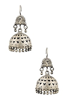 Silver Katticework Earrings by Ranakah