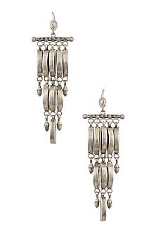 Silver Danglers Earrings by Ranakah