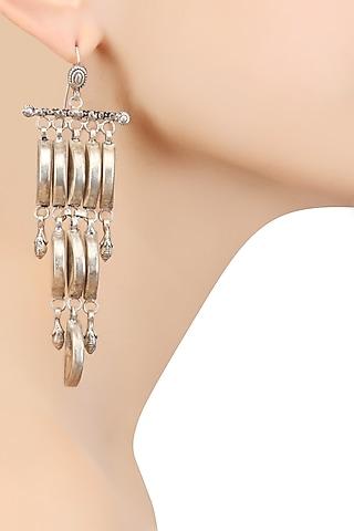 Silver Danglers Earrings by Ranakah