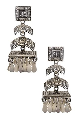 Silver 3 Jhumki Earrings by Ranakah