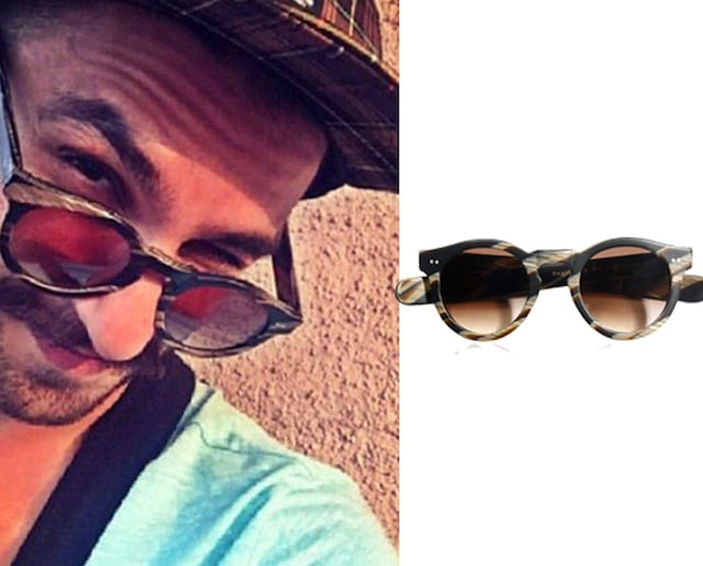 Matte choc swirl Shaun round frame sunglasses by Eye Respect