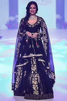 Black Embroidered Anarkali Set by RAR Studio