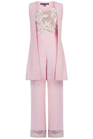 Pink Jacket Set by Rebecca Dewan