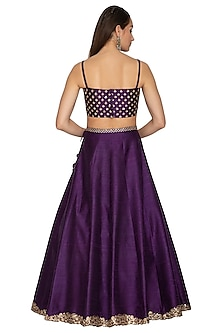 Purple Embroidered Lehenga Set by Radhika Airi
