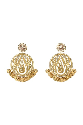 Gold Plated Swarovski & Crystal Earrings by Radhika Agrawal Jewels