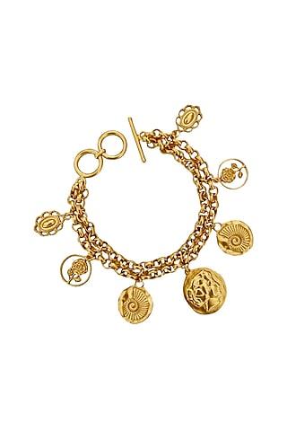 Gold Plated Swarovski Bracelet by Radhika Agrawal Jewels