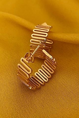 Gold Plated Earrings by Radhika Agrawal Jewels