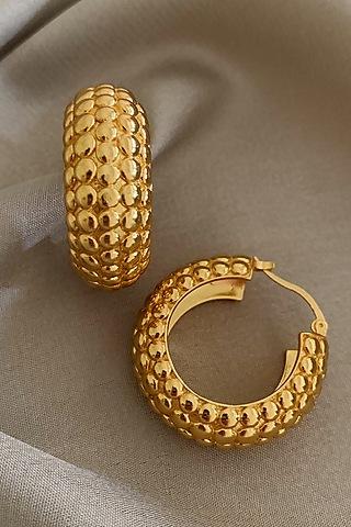 Gold Plated Hoop Earrings by Radhika Agrawal Jewels