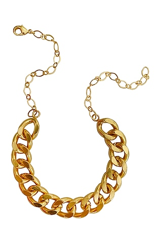 Gold Plated Choker Necklace by Radhika Agrawal Jewels