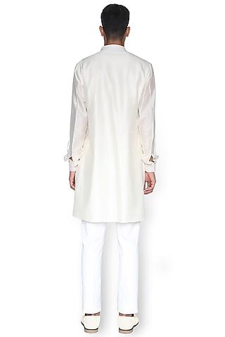 White Embroidered Kurta by Rimzim Dadu Men