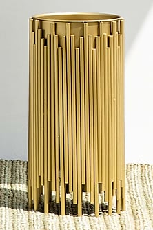 Golden Planter With Zinc Coat by The Decor Remedy