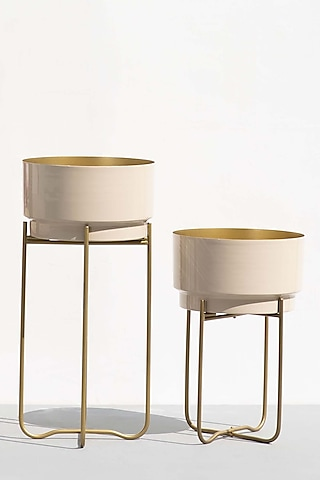 Nude & Beige Planters (Set of 2) by The Decor Remedy