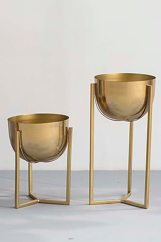 Gold Swing Planters (Set of 2) by The Decor Remedy