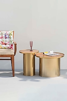 Gold Mandarin Tables (Set of 2) by The Decor Remedy