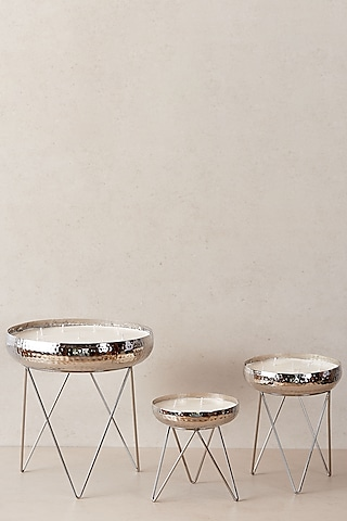 Silver Candle Stands (Set of 3) by The Decor Remedy