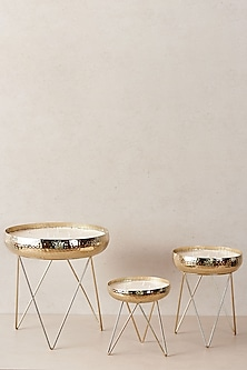 Gold Candle Stands (Set of 3) by The Decor Remedy