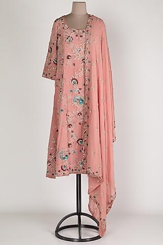 Blush Pink Embroidered Kurta Set by Renee Label