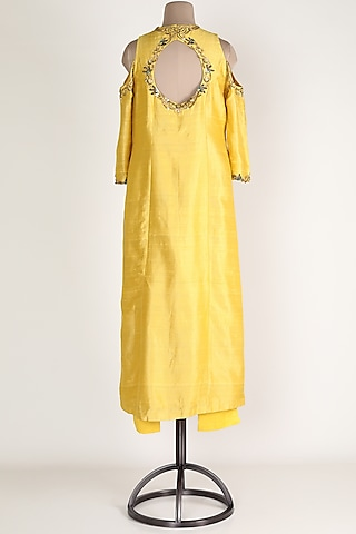 Yellow Embroidered Kurta With Pants by Renee Label