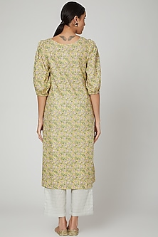 Lime Printed Kurta With Pants by Renee Label