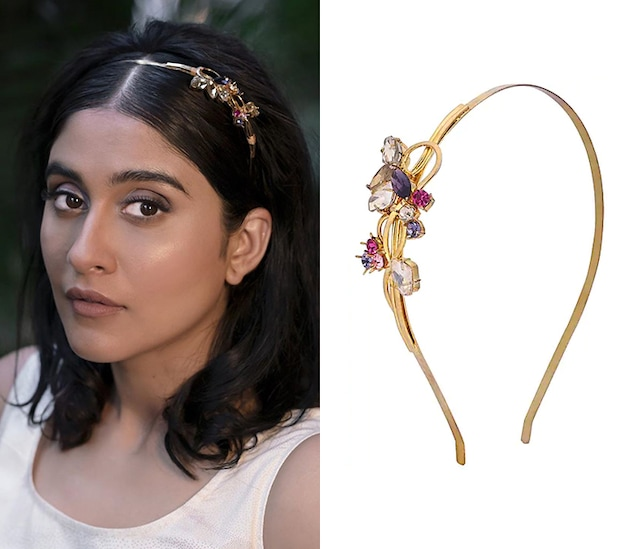 Gold Plated Inflorescence Flower Vine Head Band by Ornamaas