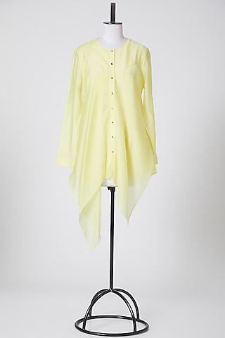 Yellow Asymmetric Top by Rohit Gandhi & Rahul Khanna