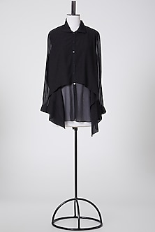 Black Embellished Top by Rohit Gandhi & Rahul Khanna-POPULAR PRODUCTS AT STORE