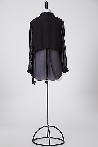 Black Embellished Top by Rohit Gandhi & Rahul Khanna