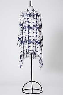 White Printed Dress by Rohit Gandhi & Rahul Khanna-POPULAR PRODUCTS AT STORE